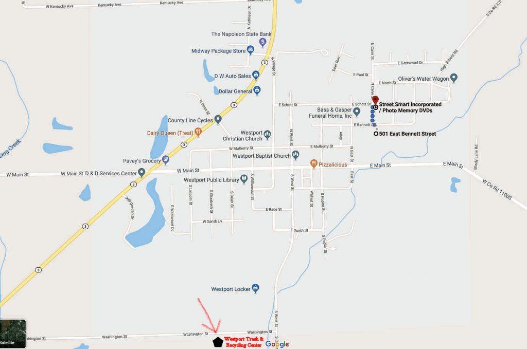 Westport Trash Location Drop Off Map